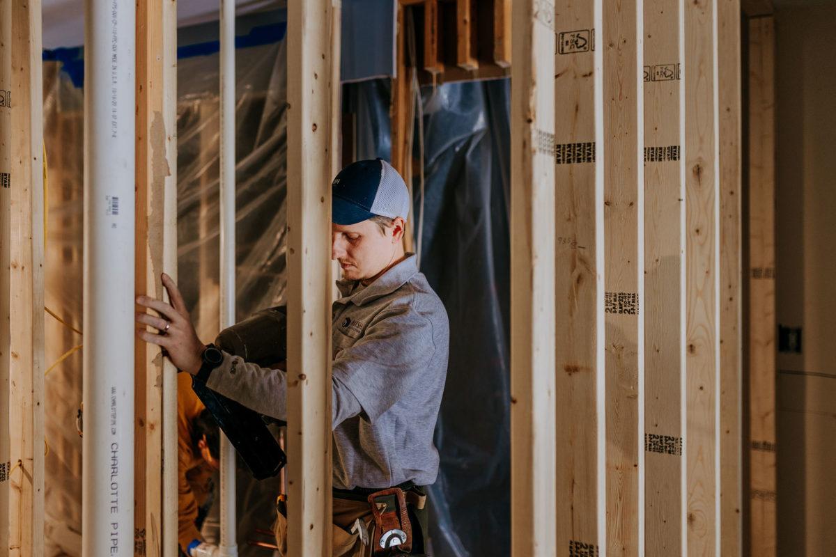 bob doing construction